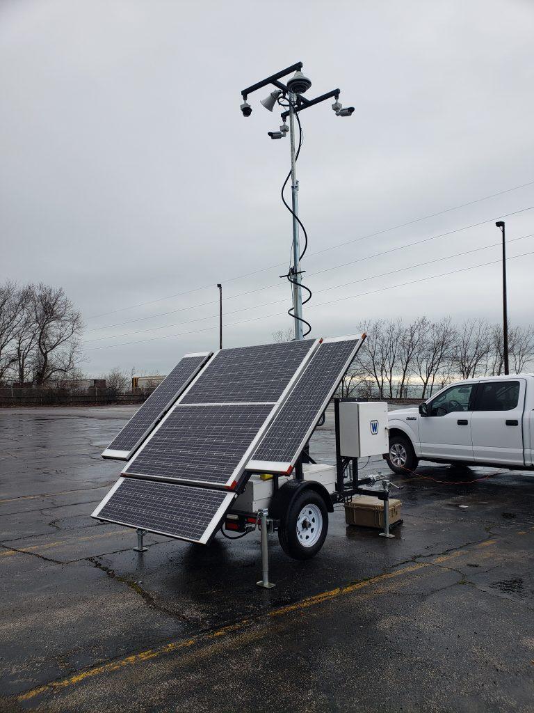 Mobile Solar Surveillance Towers